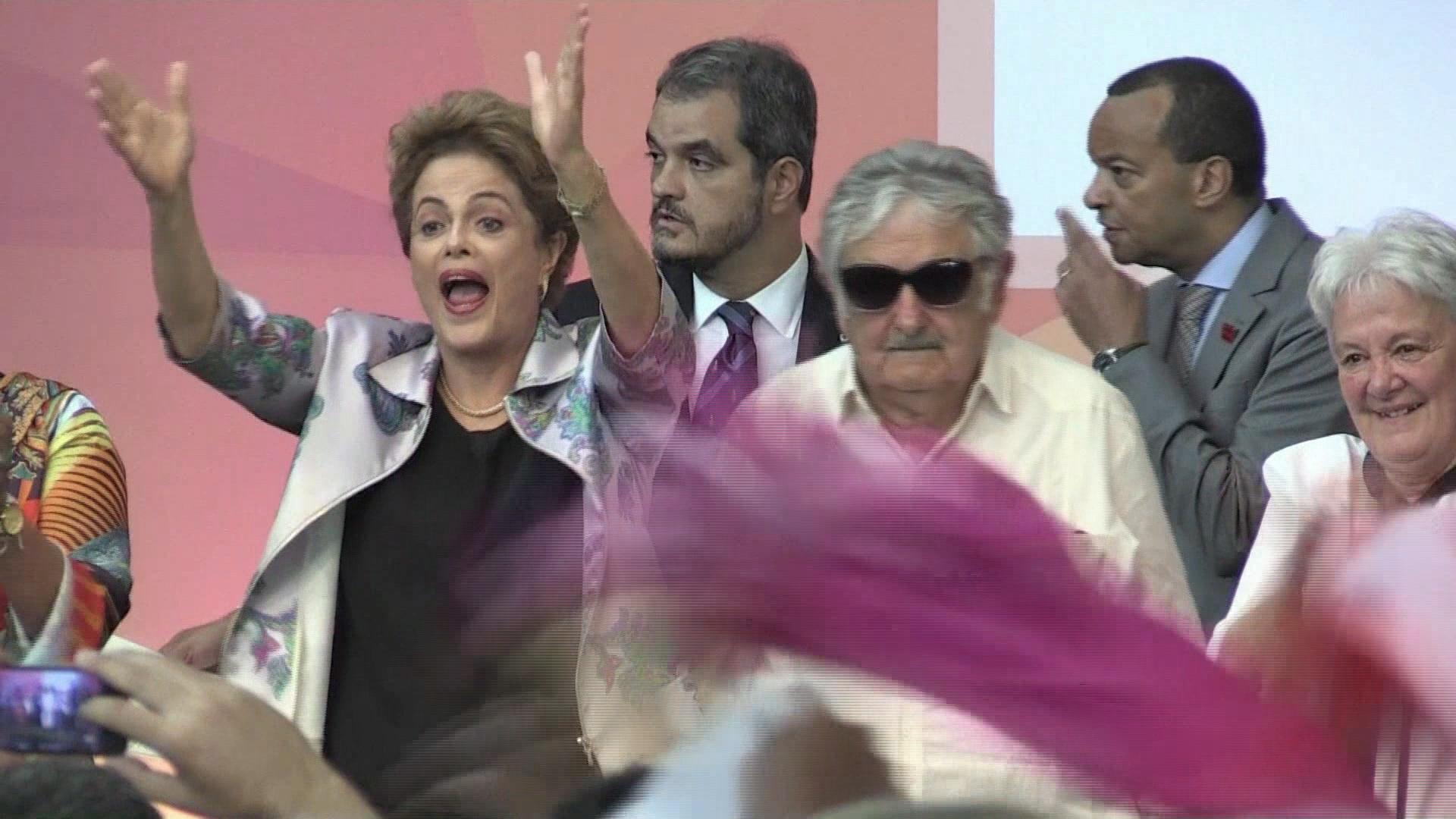 Dilma e Mujica juntos em Brasília