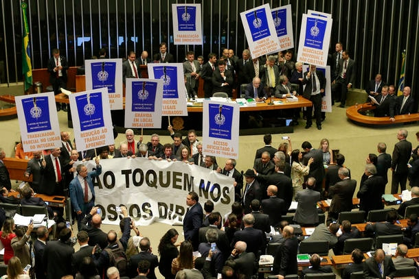 Protesto no plenário