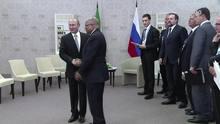 Putin recebe líderes emergentes