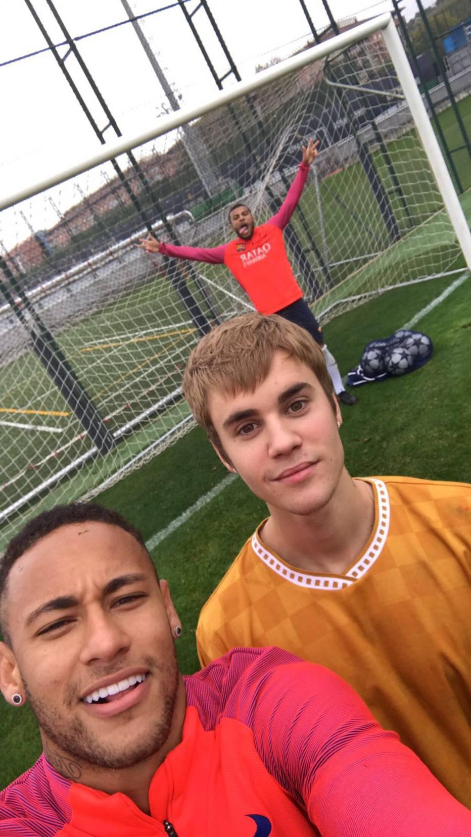 Justin Bieber e Neymar