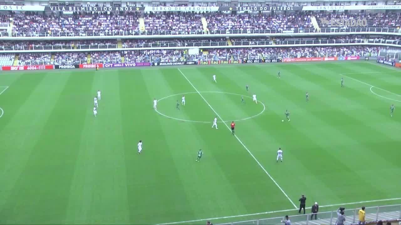 Santos bate o Chapecoense por 3 a 0