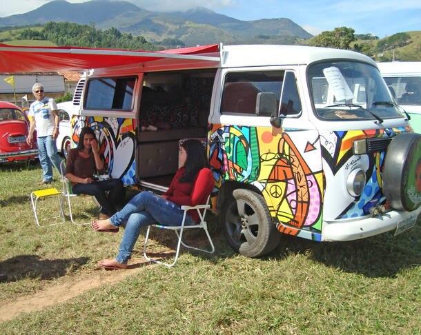 Encontro de carros antigos em Passa Quatro (MG)