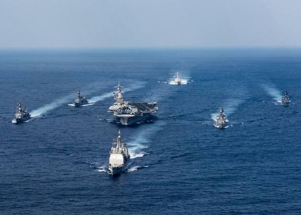 Marinha americana em direção à península coreana