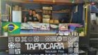 Se a dúvida inicial da designer Mariana Pitanga era se estudava gastronomia na Espanha ou na Inglaterra, o romance com um alemão durante uma viagem de férias em Nova York levou a pernambucana para a terra-natal do seu amor. É por lá que ela e o agora marido Peter Westerhoff comandam a Tapiocaria – Brazilian food. O negócio existe há cerca de um ano e desde maio roda pelas ruas com o auxílio de um food truck.