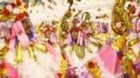 """Terceira escola a se apresentar, a Acadêmicos do Tucuruvi trouxe o enredo """"Celebrando a Religiosidade: Tucuruvi canta Festas de Fé"""""""