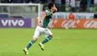 Egídio deu sorte ao abrir o placar para o Palmeiras