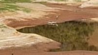 Represa Paraibuna, na região de São José dos Campos, opera hoje abaixo de 12% da capacidade