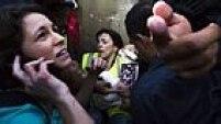 SP - COPA/SP/PROTESTO - CIDADES - Repórter da CNN é ferida durante o confronto entre manifestantes e a tropa de choque da Polícia Militar no protesto contra a Copa do Mundo nos arredores da Estação Carrão da Linha 3-Vermelha do Metrô de São Paulo na manhã desta quinta-feira (12).  12/06/2014 - Foto: RODRIGO PAIVA/ESTADÃO CONTEÚDO