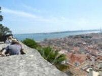 O Rio Tejo visto do alto do Castelo de São Jorge