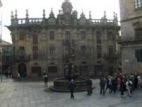 Sabrina registrou toda a viagem. Nesta foto, a chegada a Santiago de Compostela.