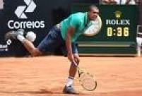 Francês Jo-Wilfried Tsonga foi surpreendido peloBrasileiro Thiago Monteiro na primeira rodada