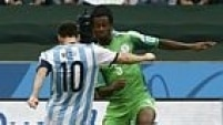 A Argentina não perde tempo! Aos dois minutos Messi abre o placar e coloca a equipe na frente