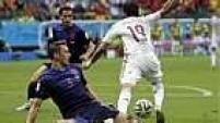 Em um dos duelos mais aguardados desta Copa, a Fúria saiu na frente, em lance duvidoso de pênalti em cima de Diego Costa.