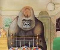 """Iustração do livro """"Gorila"""", do escritor e ilustrador de livros infantis inglês Anthony Browne, que tem dois livros lançados no Brasil pela editora Zahar"""