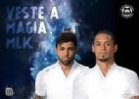 Ricardo Oliveira e Gabriel foram os modelos da nova camisa do Santos nas redes sociais