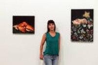 Ana Elisa Egreja e suas recentes pinturas expostas no projeto Arte Atual