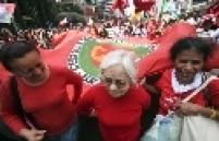 Manifestação pelos excluídos e pela moradia no Dia da Independência na Av. Paulista, SP