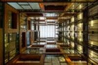 O interior do Centro de Inovação de Santiago, Chile, projetado por Aravena, premiado com o Pritzker, e Juan Cerda