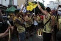 O bloco, que desfila na Vila Madalena,traz em seu repertório clássicos do punk em ritmo de marchinha