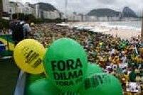 O protesto pede o impeachment da presidente Dilma Rousseff e defende a Operação Lava Jato