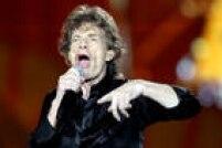 Outro retrato dovocalista Mick Jagger em São Paulo na noite de sábado, 27