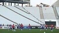 A 27 dias do primeiro jogo da Copa do Mundo, entre Brasil e Croácia, a construção da Arena Corinthians está inacabada, faltando muitos detalhes de acabamento na obra.
