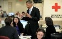 Presidente Obama conversa com a Cruz Vermelha Americana sobre a opração de resgate dos haitianos sobreviventes