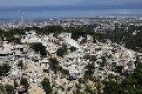 Vista aérea de Porto Príncipe depois da destruição causada pelo terremoto
