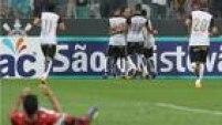 Rodriguinho festeja o gol que garantiu a vitória corintiana sobre o Oeste por 1 a 0 na Arena de Itaquera