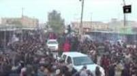 Mais vídeos do Estado Islâmico são publicados na rede. Num deles, integrantes do EI decapitam 21 egípcios cristãos. Noutro, aprisionam Peshmergas (soldados curdos) dentro de jaulas, transportadas em caçambas de carros pelas ruas do Iraque. Poucos dias depois, um vídeo mostra o EI destruindo antiguidades do museu Mosul, o segundo maior do Iraque.