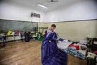 Estudantes dormiam nas salas de aula durante a ocupação