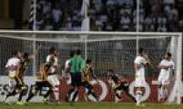 Matias Alonso fez o gol da vitória do Strongest sobre o São Paulo no Pacaembu