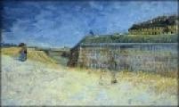 """""""A Fortificação de Paris"""" (1878), na foto, de Van Gogh; """"Pobreza"""" (1903), de Picasso; e """"Paisagem do Taiti"""" (1891-1893), de Gauguin foram roubadas em 2003 na Grã-Bretanha e encontradas na mesma semana"""
