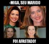 O meme acima retrata a mulher de Cunha, a jornalista Cláudia Cordeiro Cruz, em uma montagem de fotos.