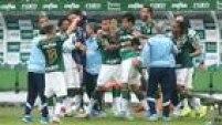 Jogadores do Palmeiras fizeram a festa na Allianz Parque, dando show diante deo São Paulo