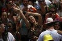 É a primeira vez que o Monobloco puxa foliões nas ruas da capital paulista
