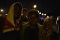 Migrantes anônimos que se deixaram fotografar durante tentativa de cruzar o Eurotúnel