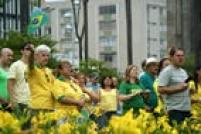 Manifestantes ocuparam as ruas de Santo André, no ABC paulista.