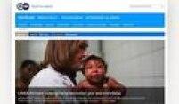 """No site alemão, uma das reportagens destacava a falta de acompanhamento aos bebês com microcefalia no Brasil. """"Governo foca apenas no combate ao mosquito e negligencia tratamento dos doentes"""", diz o texto."""