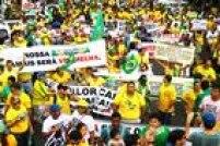 Em Manaus, o centro da cidade foi o ponto de encontro para os atos. Foto: Edmar Barros/Futura Press