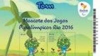 Durante a abertura do Centro Olímpico de Tênis, selos dos mascotes também foram lançados