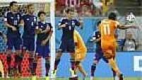 Por pouco Drogba não aumentou o placar. O experiente centroavante recebeu passe de Konan e chutou rasteiro. A bola passou rente à trave.