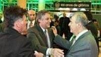 O presidente Paulo Nobre recepcionou convidados e falou na abertura do jantar de comemoração sobre o amor à camisa alviverde