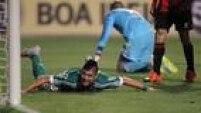 Cristaldo perdeu chances incríveis no Pacaembu, na cara do goleiro do Sport