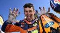 Australiano Toby Price comemora o primeiro título nas motos do Rali Dacar