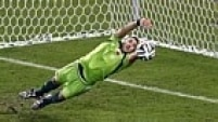 David Ospina - 25 anos - clube: Nice - 48 jogos pela seleção colombiana - 2 gols sofridos na Copa do Mundo 2014
