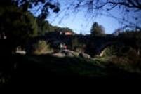 Paisagem bucólica no trecho entre Santiago de Compostela e Finisterra
