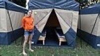 Assim como é de tradição dos holandeses, os torcedores organizaram um acampamento em São Paulo para o período da Copa do Mundo