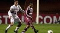 A estreia de Lugano no São Paulo viria somente meses depois, contra o Atlético-MG, e o primeiro gol, foi no mesmo ano, contra o Fluminense, pela Copa Sul-Americana.