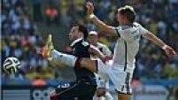 Mais forte fisicamente, a Alemanha se deu melhor nas divididas e fez a diferença nas roubadas de bola